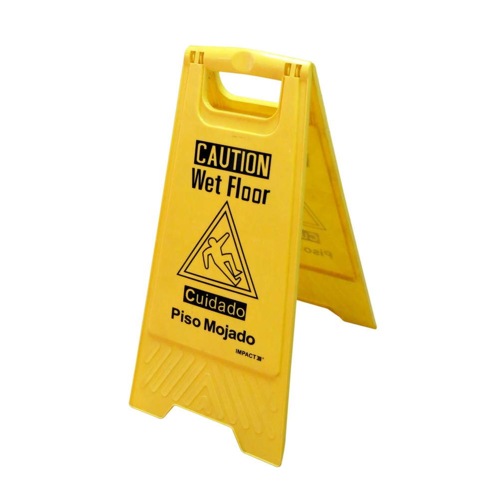 Rótulo precaución piso mojado