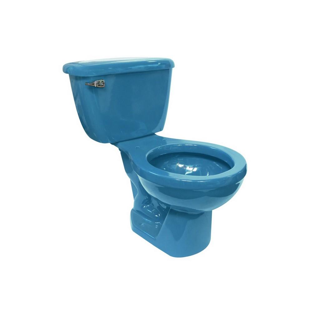 inodoro de 2 piezas color azul inodoros de dos piezas