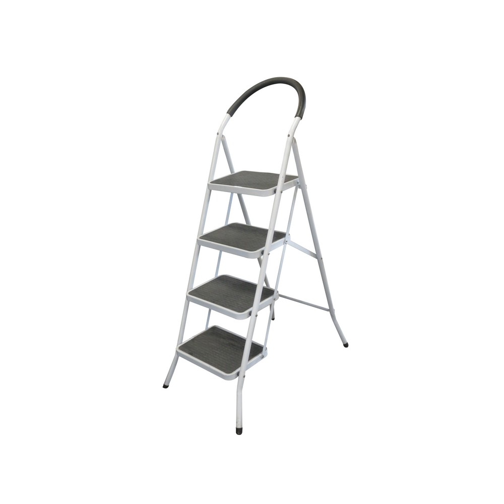 Acero Inoxidable Escalera plegable Antideslizantes 2 Pelda/ños Negro