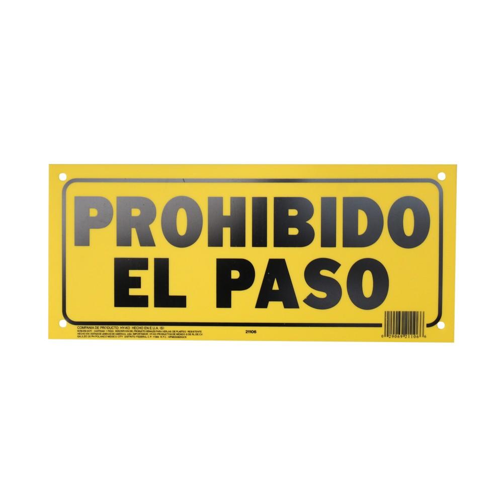 ROTULO PROHIBIDO EL PASO 15X36CM 21106