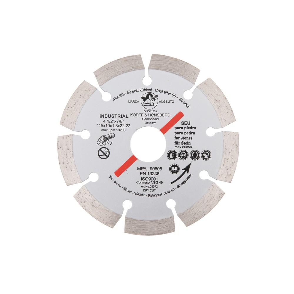 Disco diamantado 4.1/2 pulg segmentado