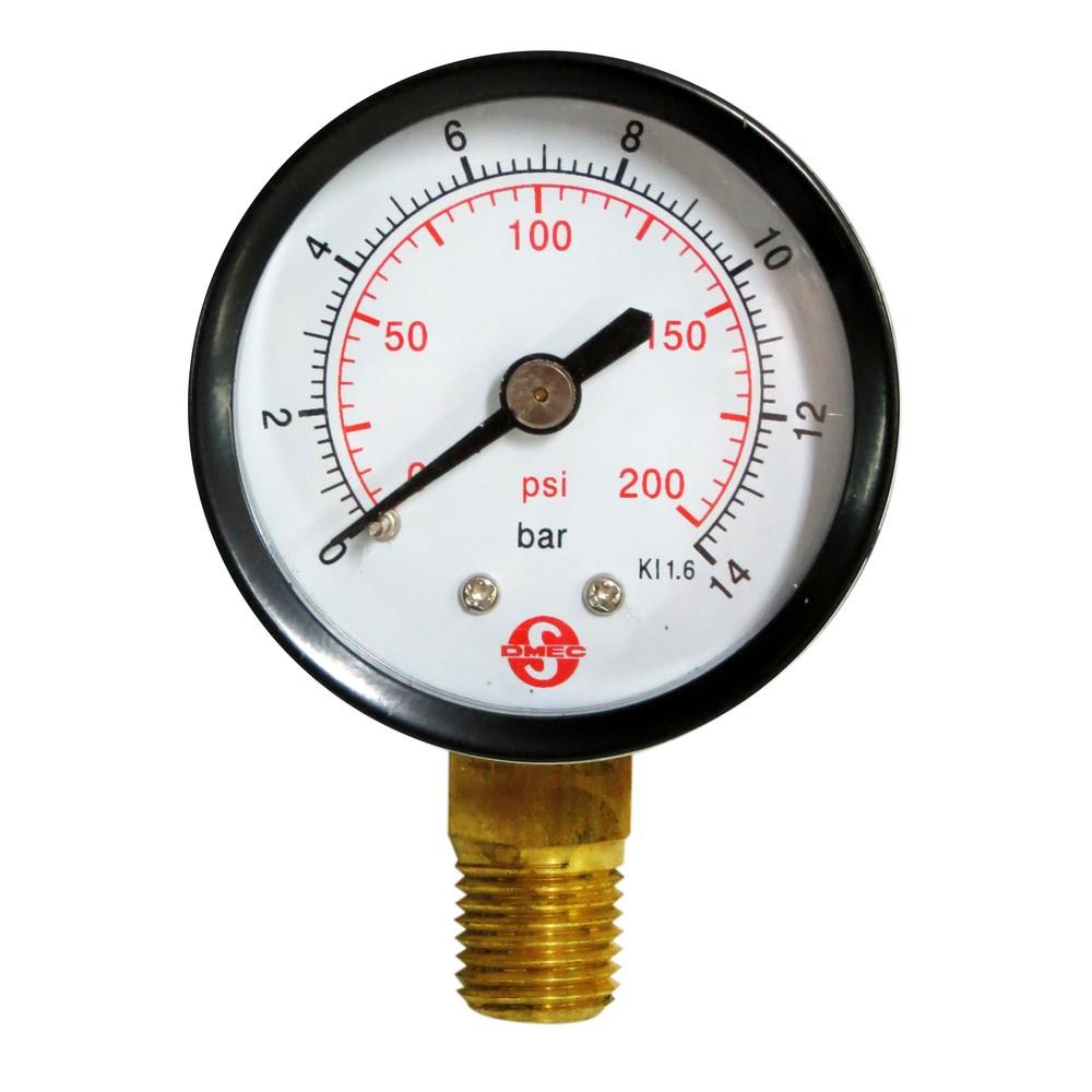 Manómetro 200 psi 2 pulg