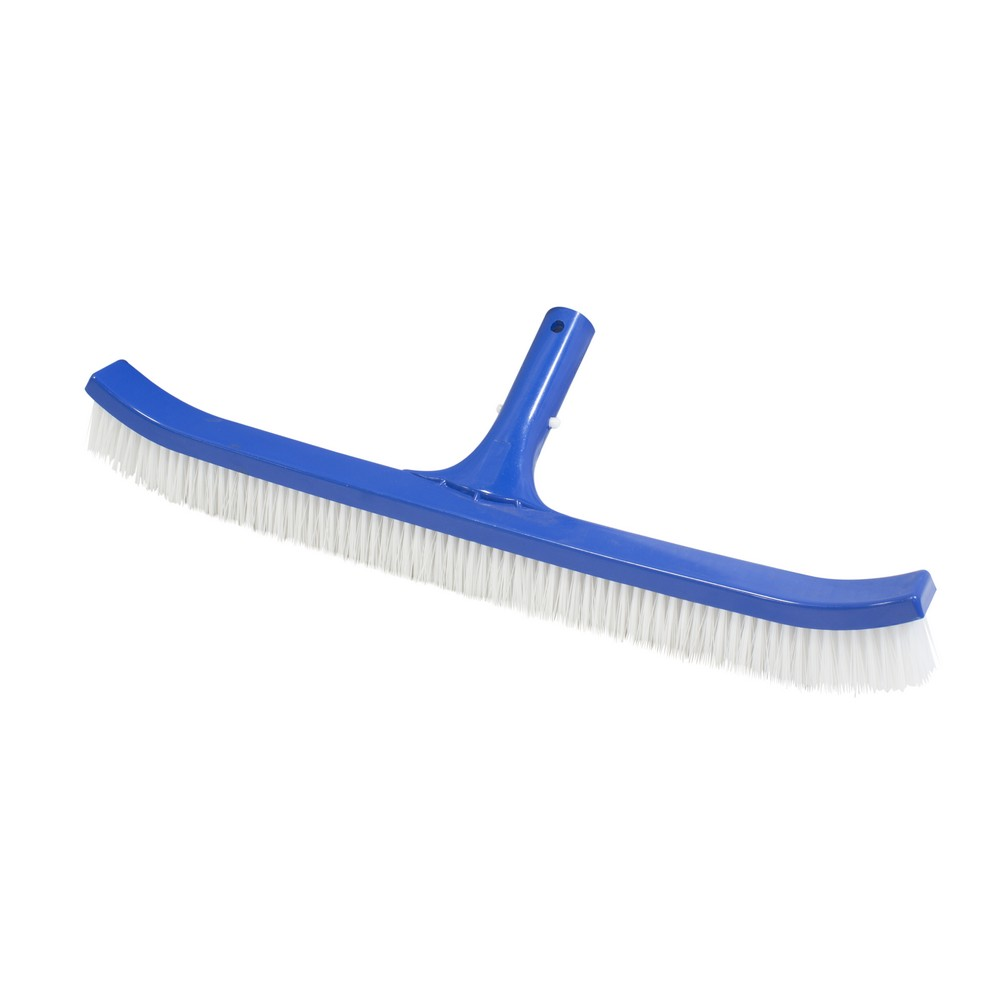 Cepillo para piscina plastico 18 pulg cerdas de nylon
