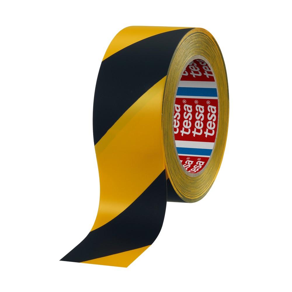 Cinta de marcaje de piso amarillo/negro 33mx50mm