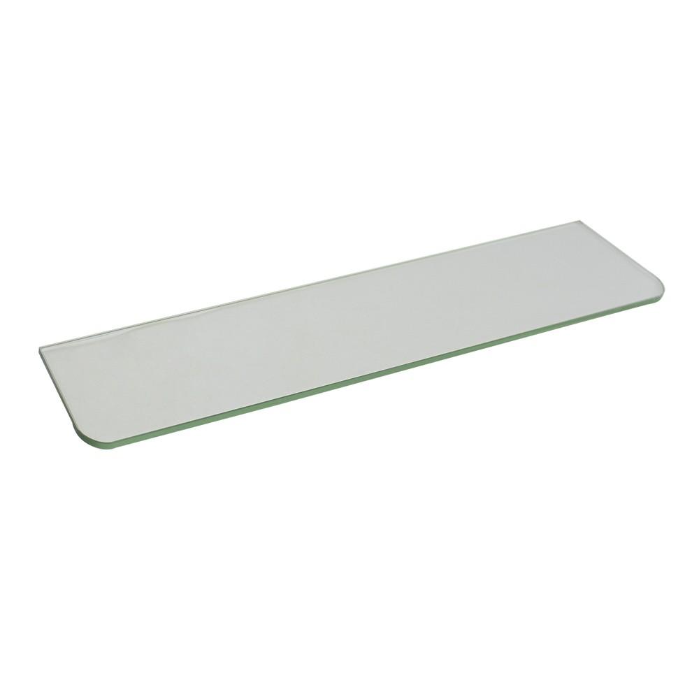 Repisa de vidrio recta 12 x 61 cm