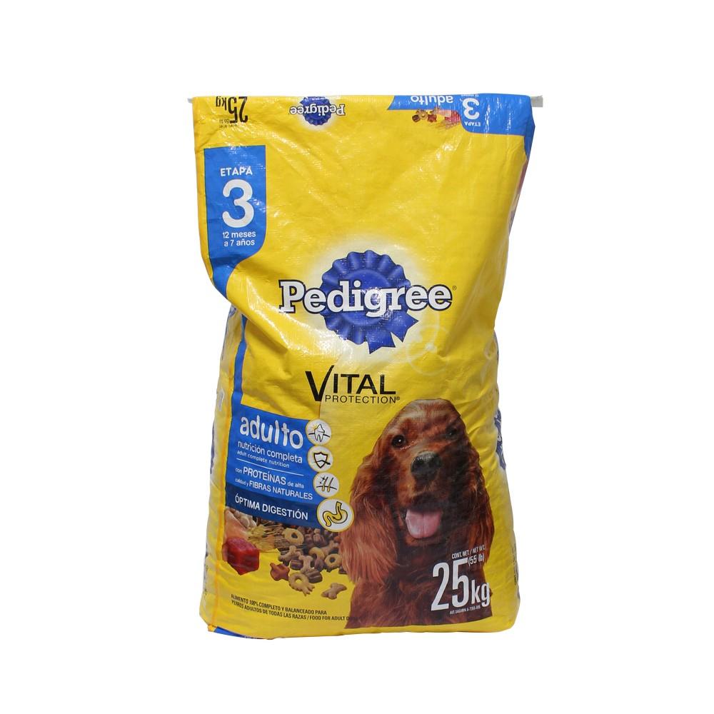 Comida para perro pedigree 55 lbs