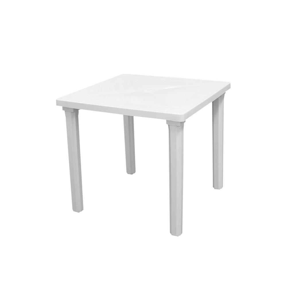 Mesa plástica blanca