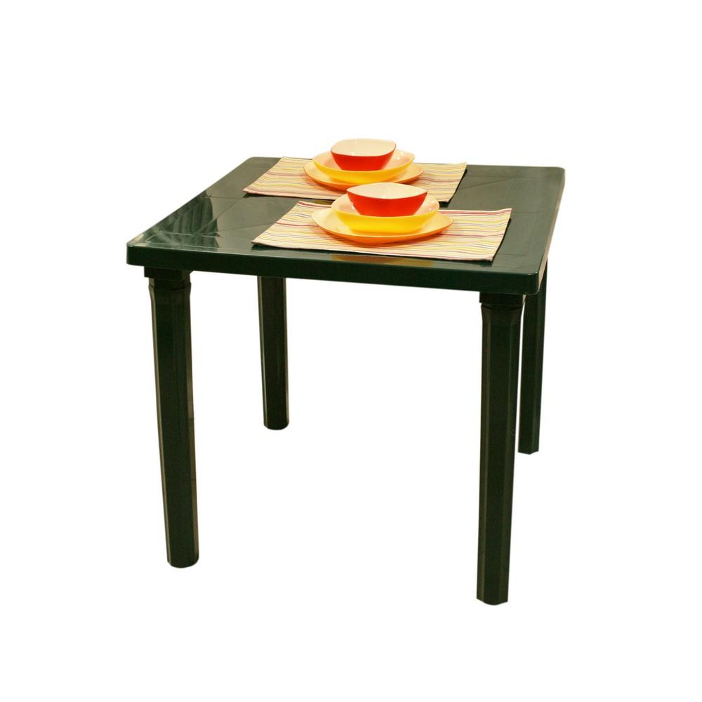 Mesa plástica cuadrada verde