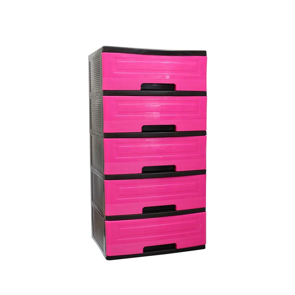 Organizador Pl Stico 5 Gavetas Cajas Organizadoras Kawaki # Muebles De Plastico Kawaki