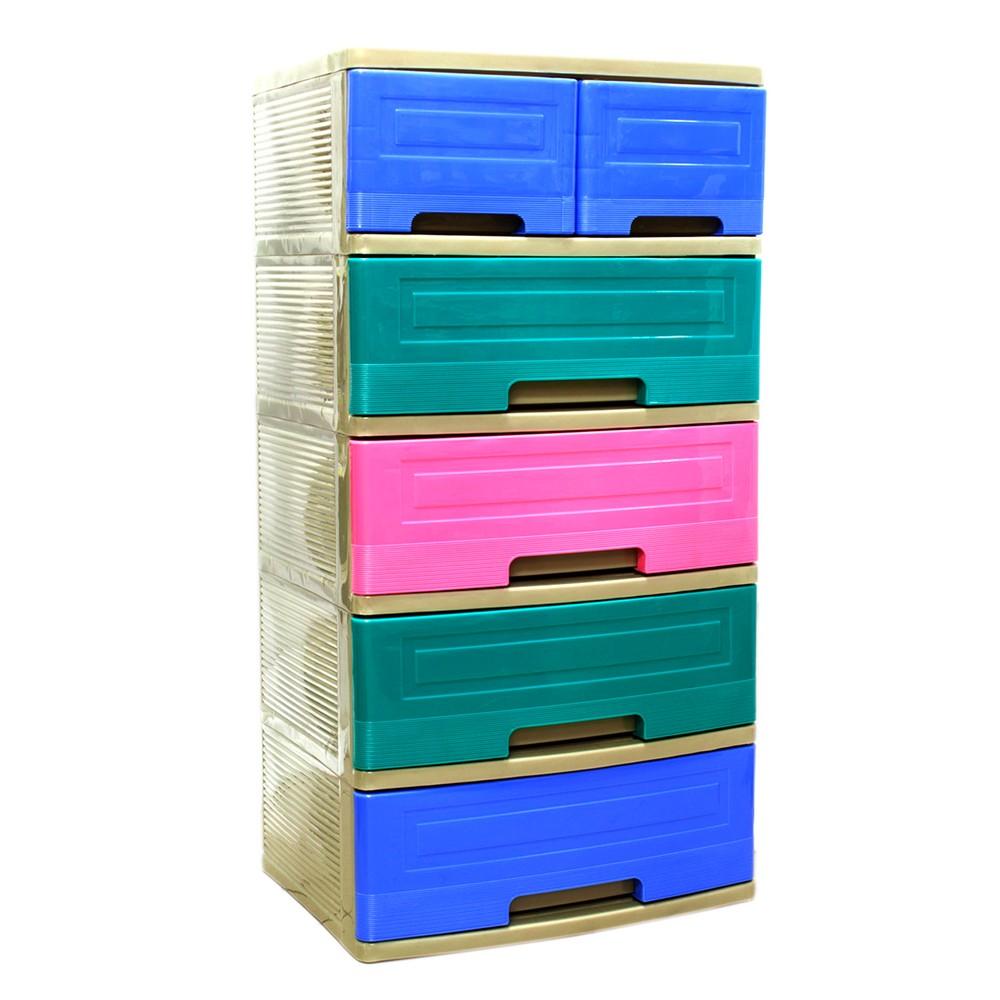 Organizador Pl Stico 6 Gavetas Cajas Organizadoras Kawaki # Muebles De Plastico Kawaki