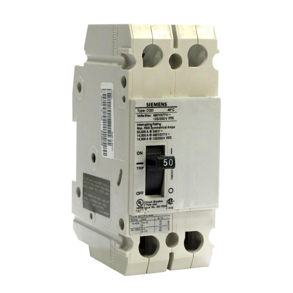 Interruptor termomagnetico 50a 2 polos 480vac us2:cqd250