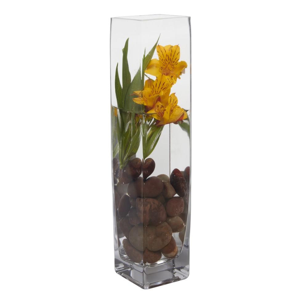 Florero de vidrio cuadrado largo 7x7x35cm ga202 35 floreros - Fabrica de floreros de vidrio ...
