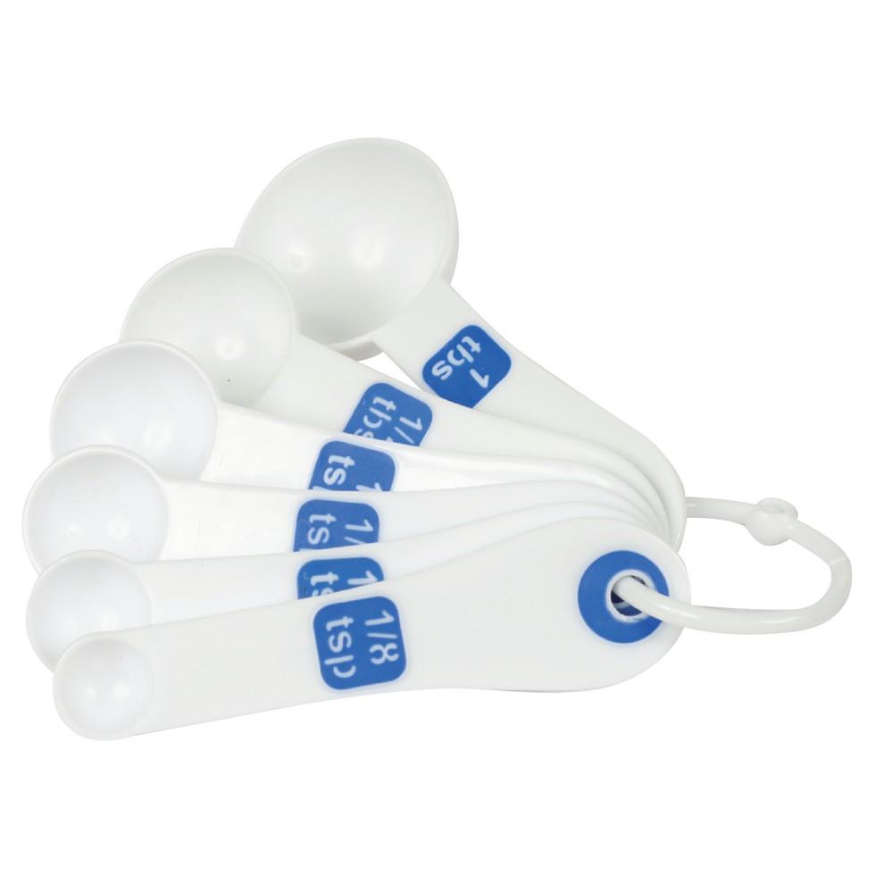 Set cucharas medidoras plasticas 6 pzas