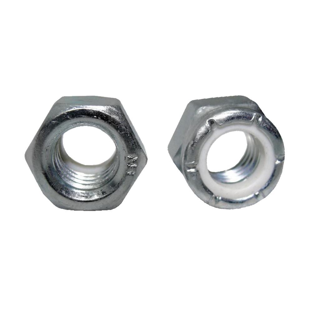 Tuerca hexagonal zincada 6 mm con nylon