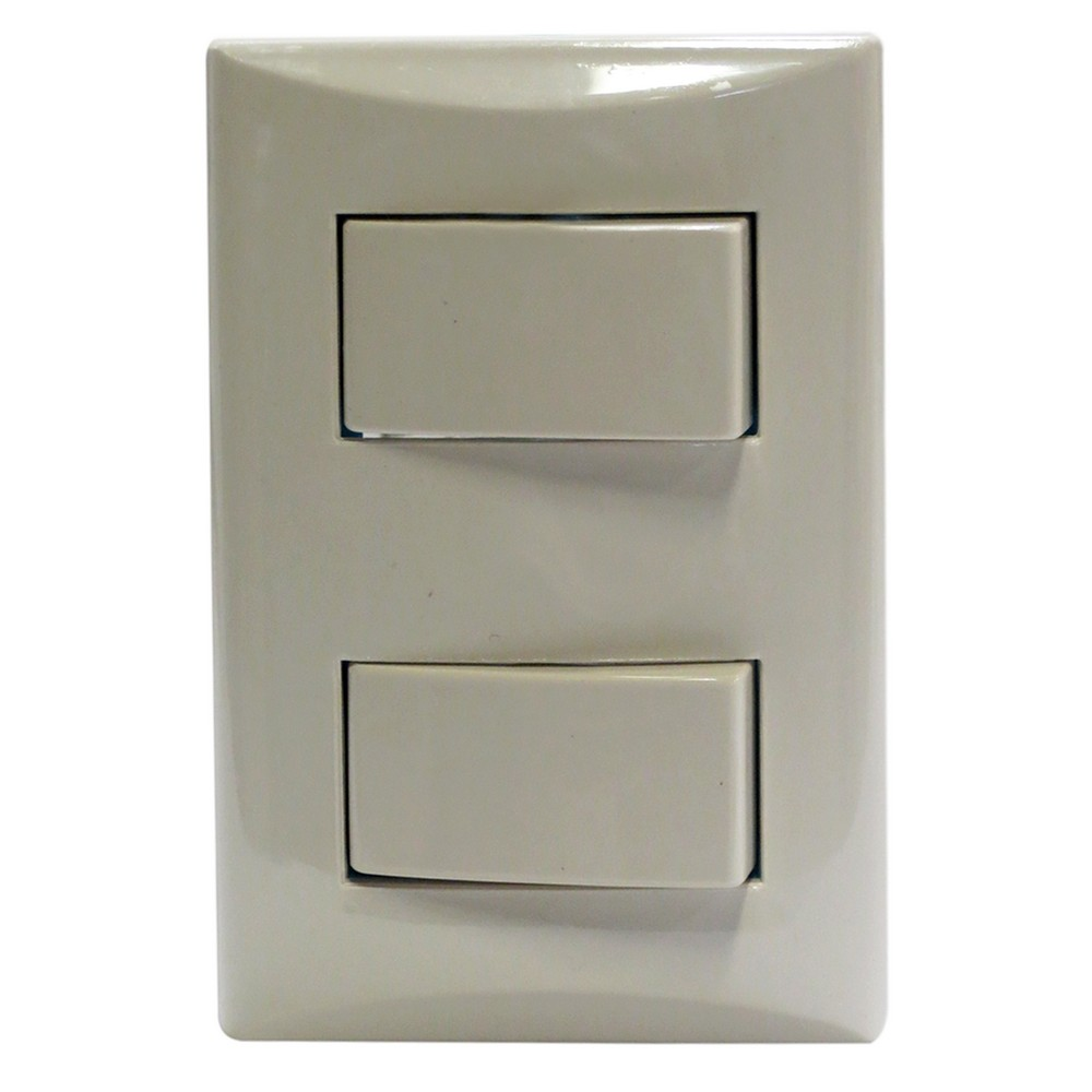 Interruptor doble 15a 125vac blanco