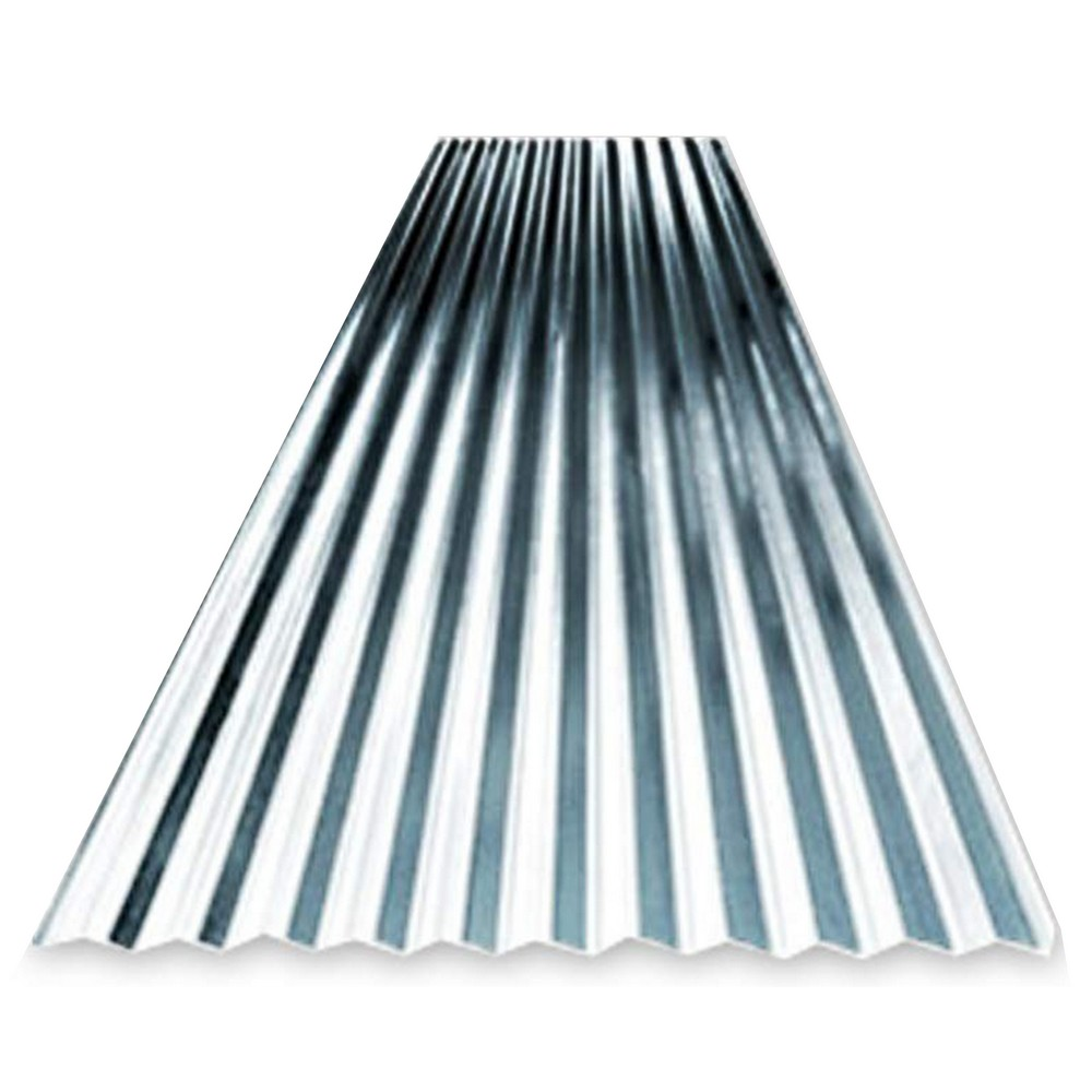 Lámina galvanizada de 2×1 yarda calibre #26 canal corriente Lámina galvanizada lisa y de canal