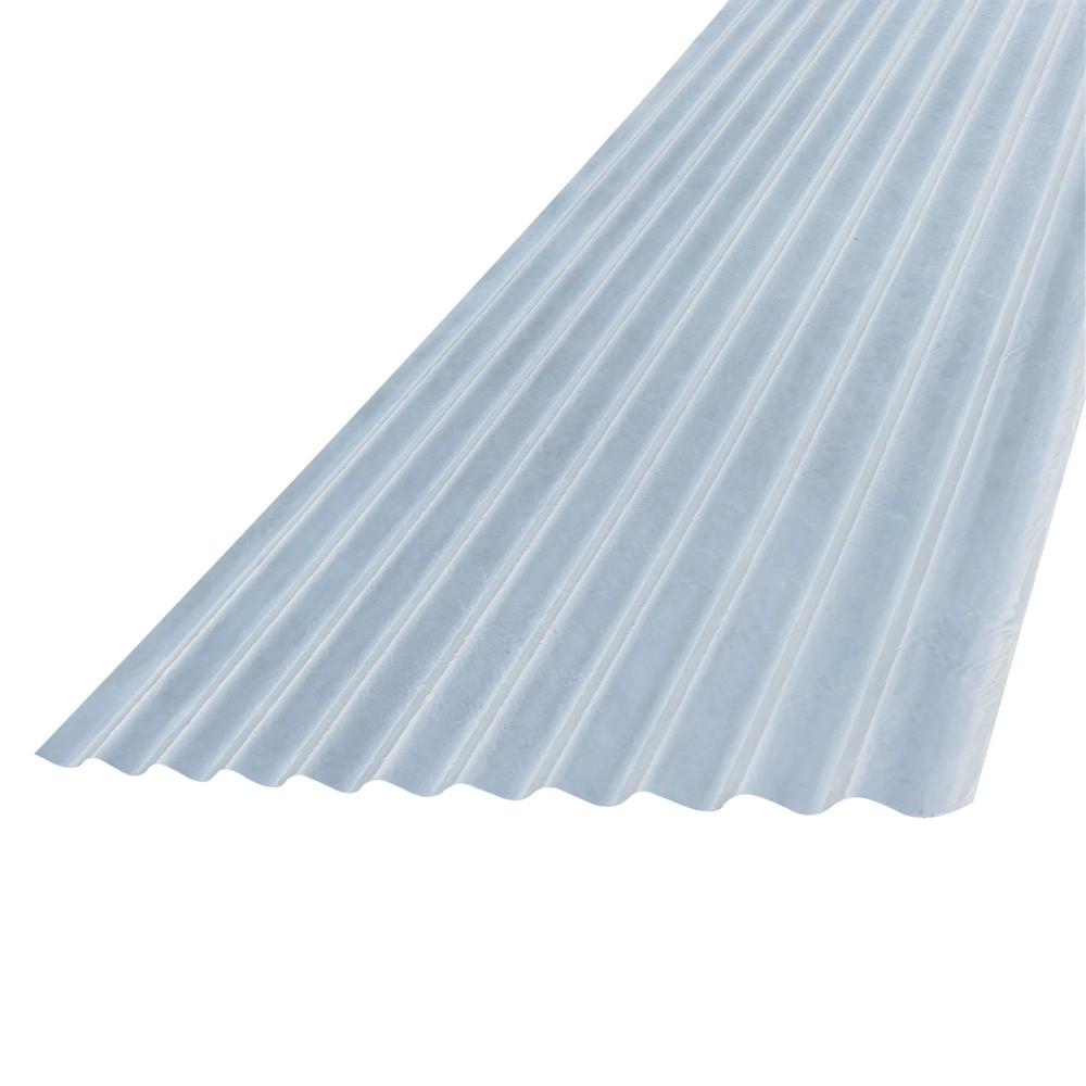 Lámina plástica canal corriente 3x1 yardas lechosa