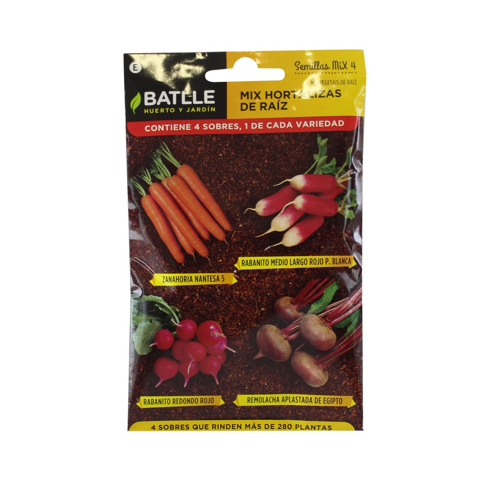 Semilla mix hortalizas raiz