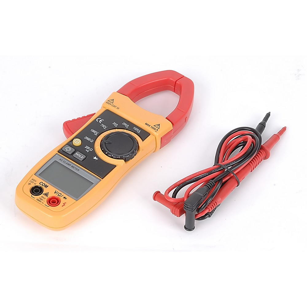 Amperímetro digital profesional de 1000 amperios / 750 voltios.