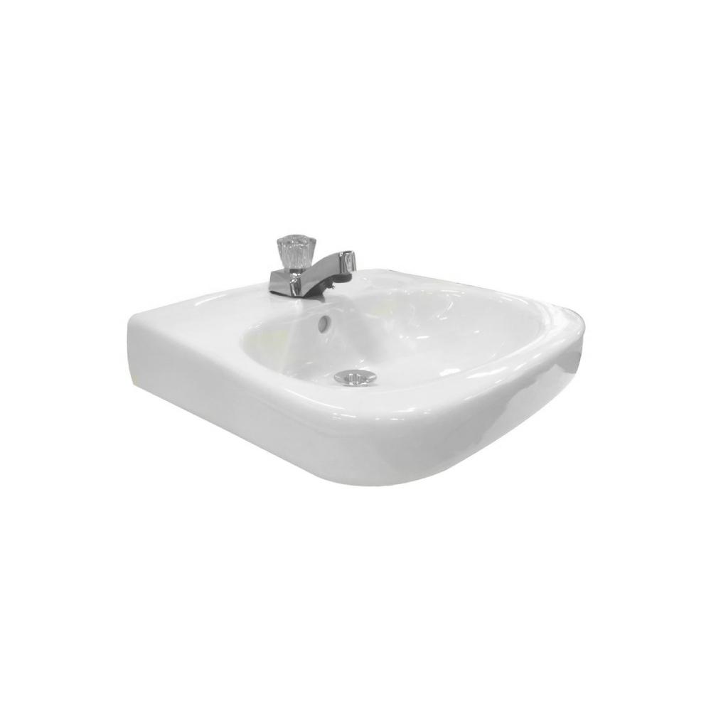 Lavamano de pared cuadrado blanco saturno