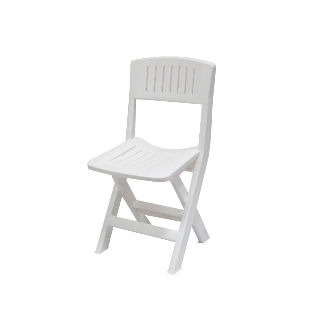 Silla plegable blanca sillas rimax for Silla plegable blanca