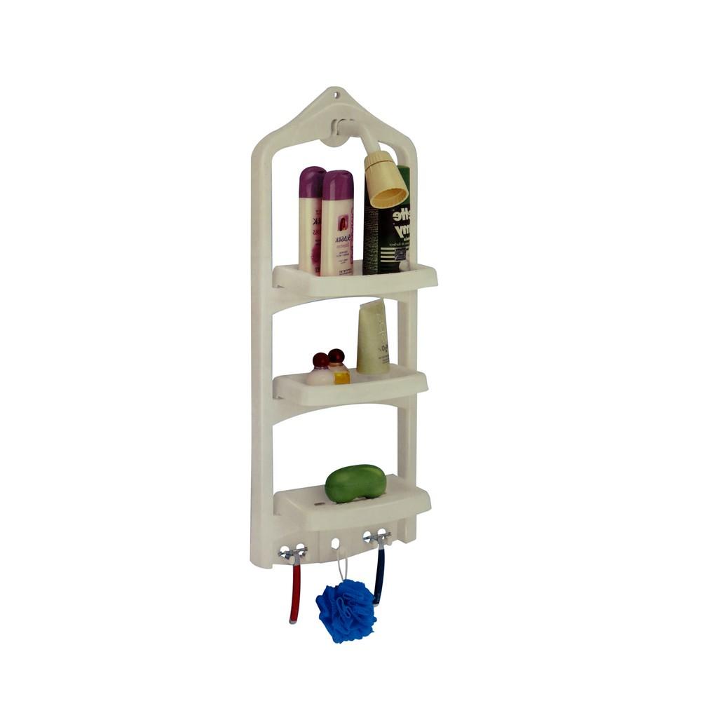 Organizador para ducha pl stico color blanco for Organizador para ducha