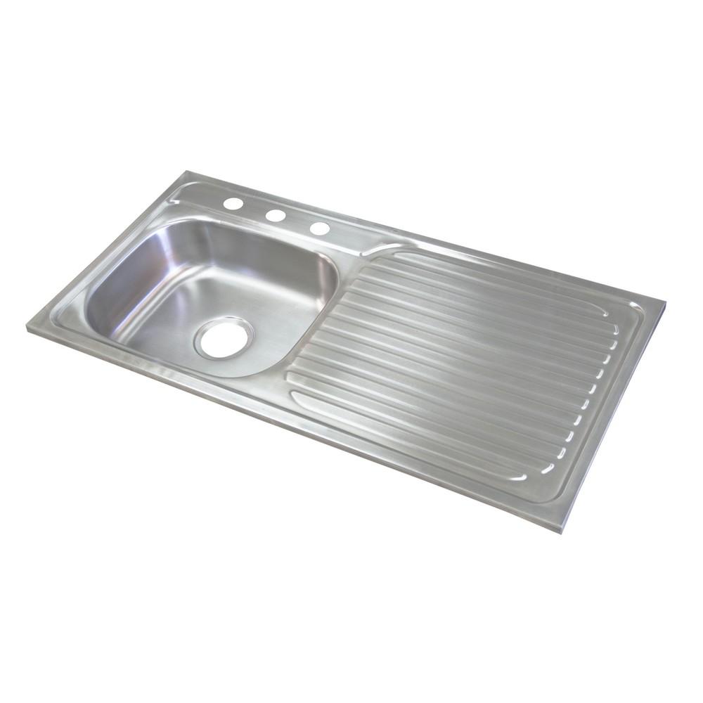 Fregadero de acero inoxidable 1 poceta y 1 escurridor - Fregaderos de acero inoxidable ...