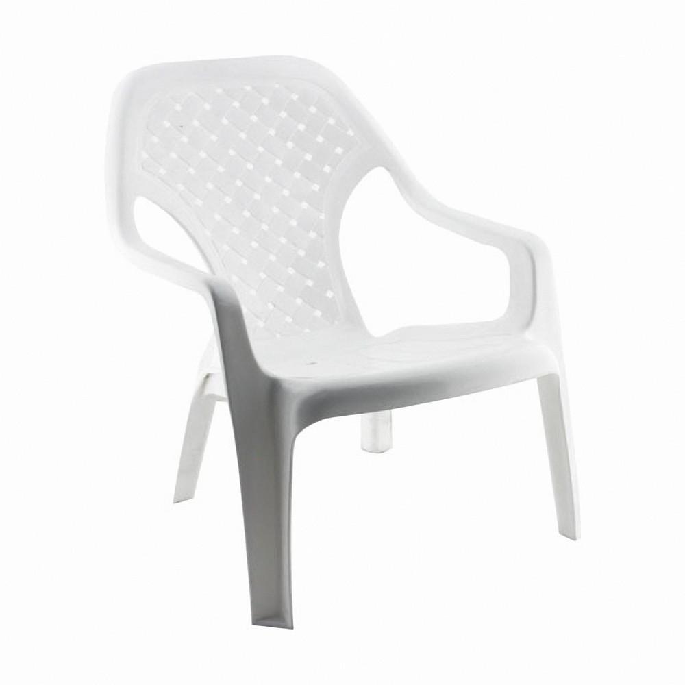 Silla pl stica playera blanca sillas rimax for Sillas plasticas modernas