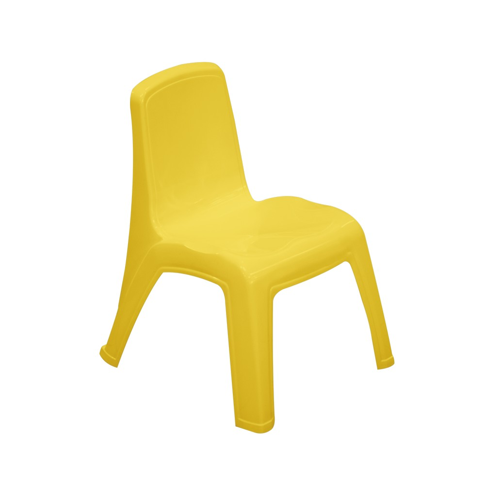 Silla pl stica para ni os color amarilla for Sillas amarillas