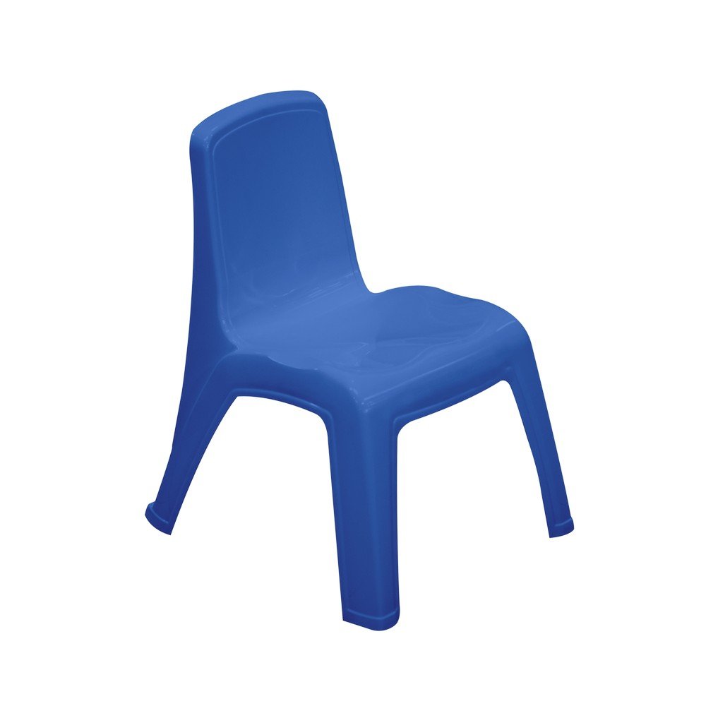 Silla pl stica para ni os color azul sillas rimax for Sillas plasticas para ninos wenco