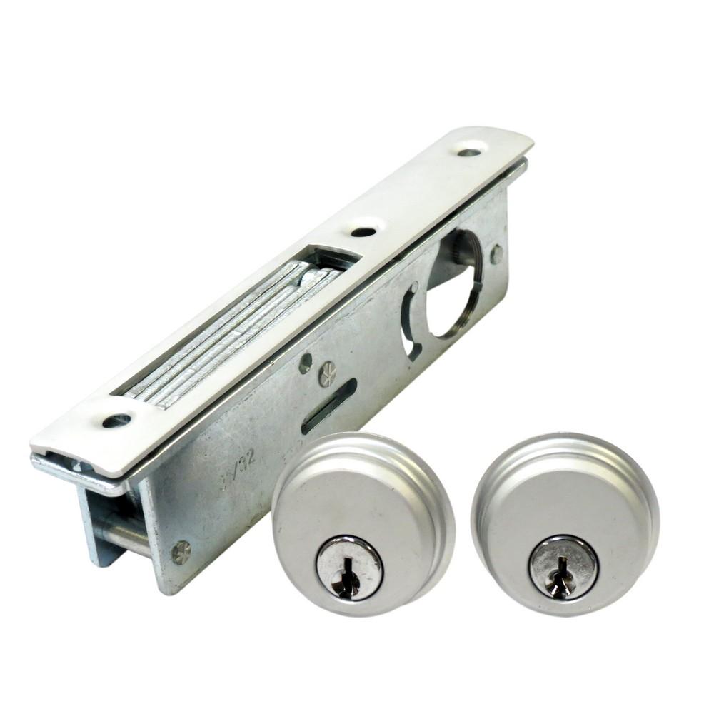 Cerradura plana para puerta de aluminio cerraduras para for Cerradura para mampara de vidrio