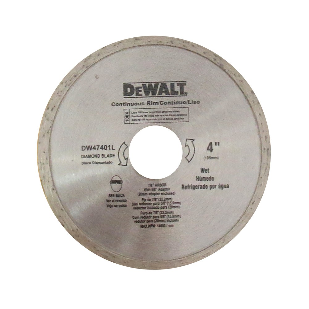Disco diamantado 4 pulg continuo