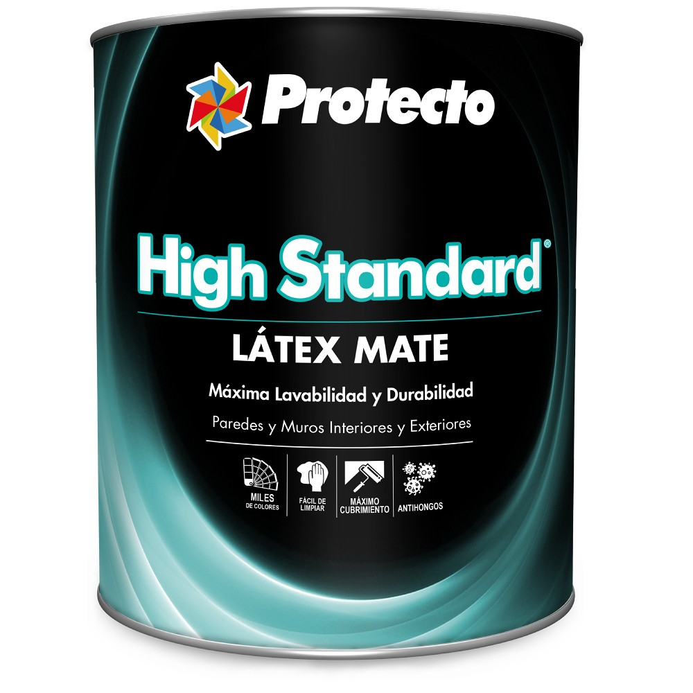 Pintura latex mate high standard blanco qto