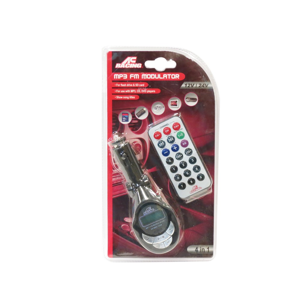 Transmisor fm para vehiculo usb/micro sd xp09a