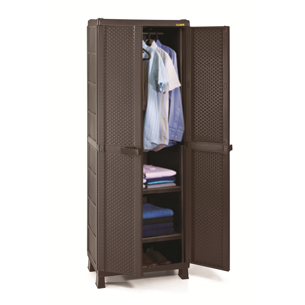 Armario pl stico grande para ropa rattan closet portatil - Como vestir un armario ...