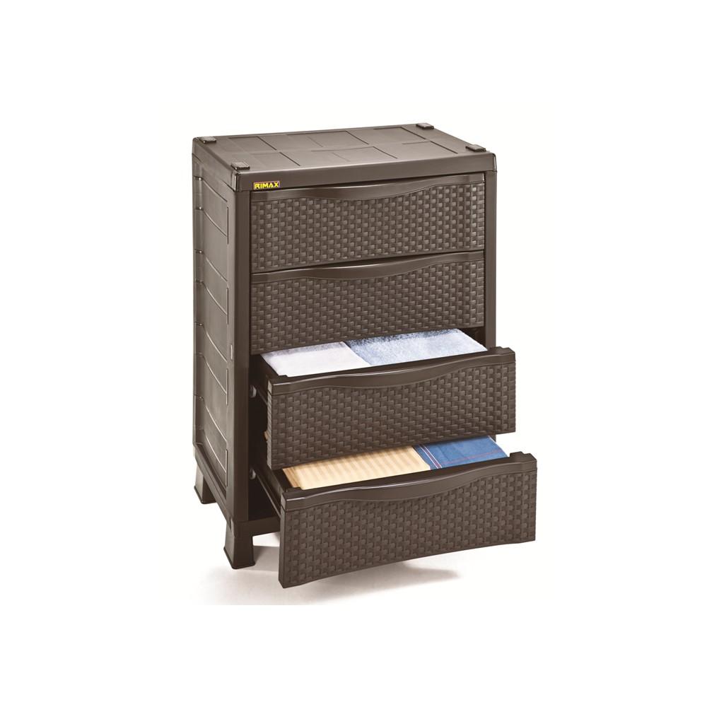 Armario pl stico con gavetas caf rattan for Muebles de terraza de plastico