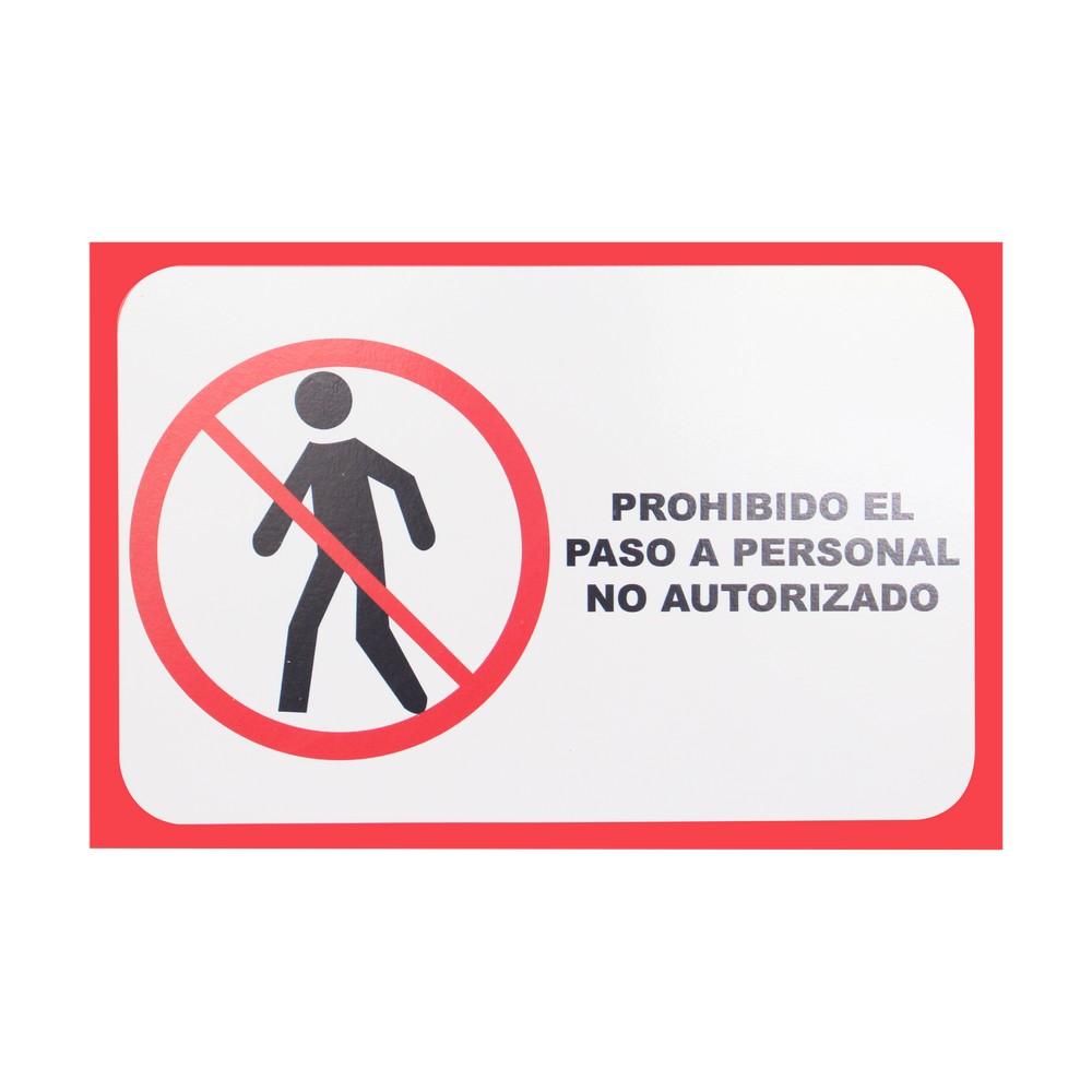 Rótulo prohibido el paso 20 x 30 cm
