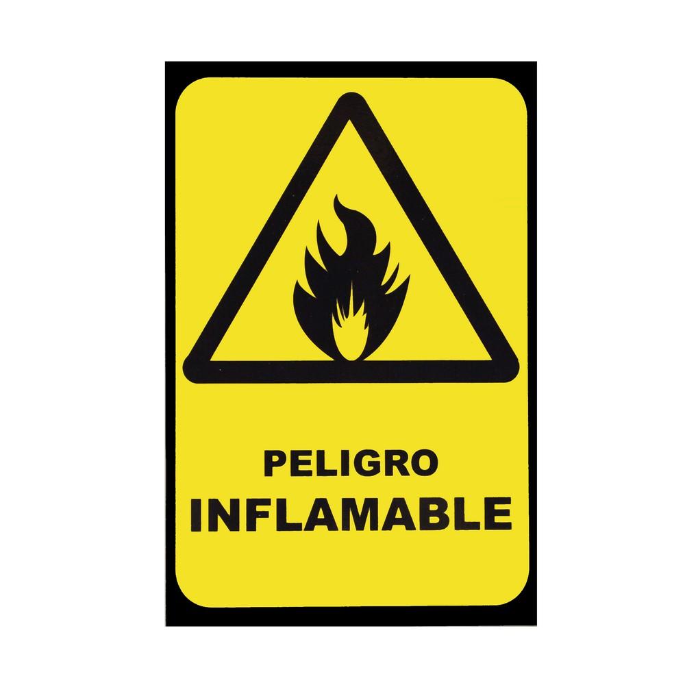 Rótulo peligro inflamable 20 x 30 cm