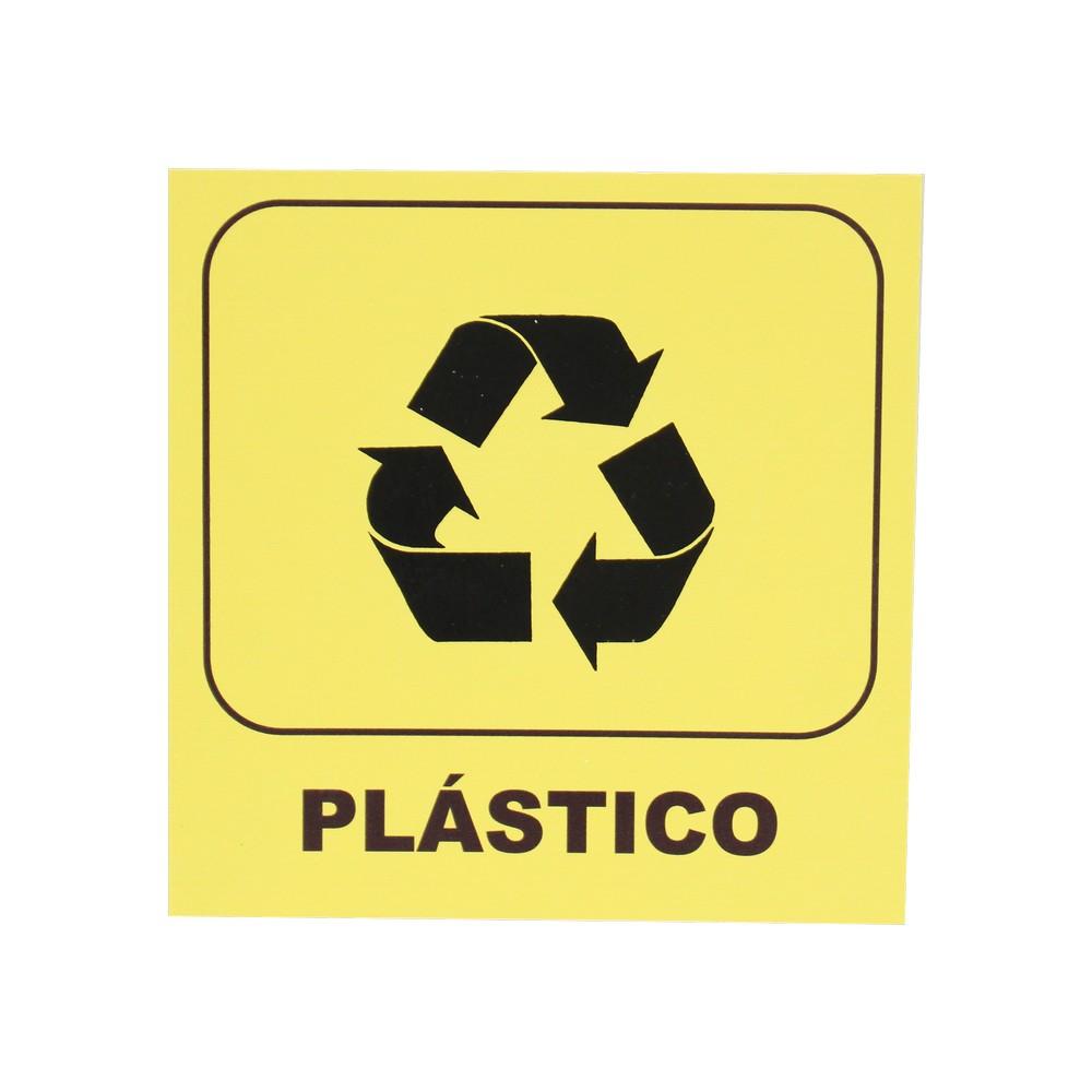 Rótulo reciclaje plástico 20 x 20 cm