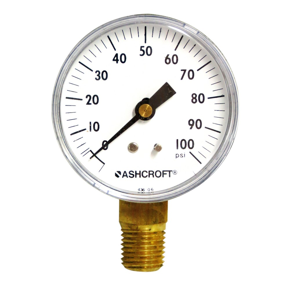 Manómetro 100 psi 2.1/2 pulg
