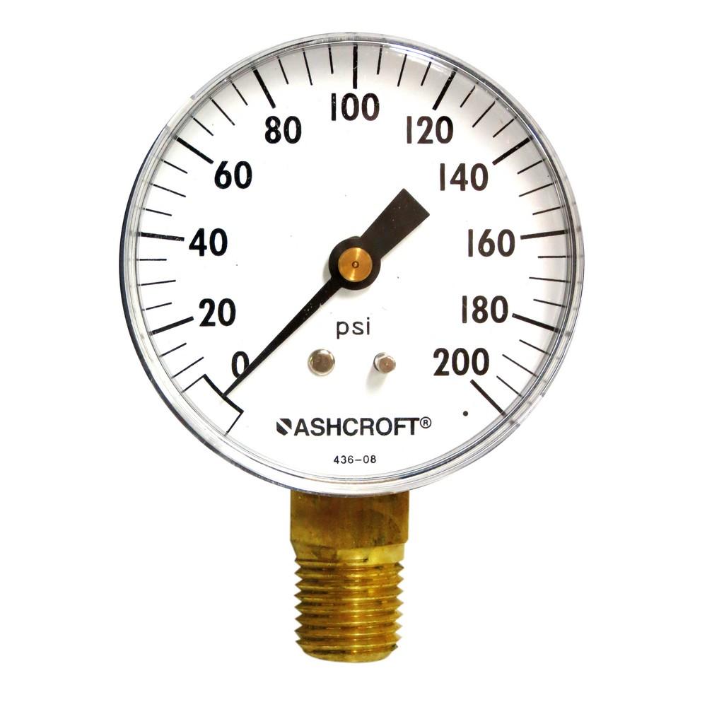 Manómetro 200 psi 2-1/2 pulg