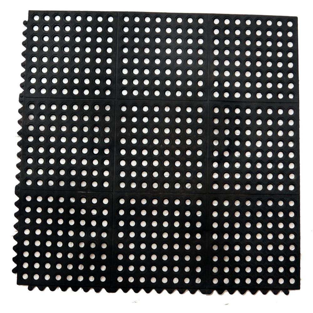 Alfombra Negra Antifatiga De 36x36 Pulgadas Alfombras