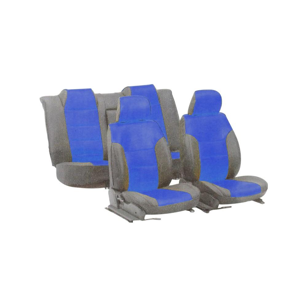 Forro negro y azul para asiento de carro