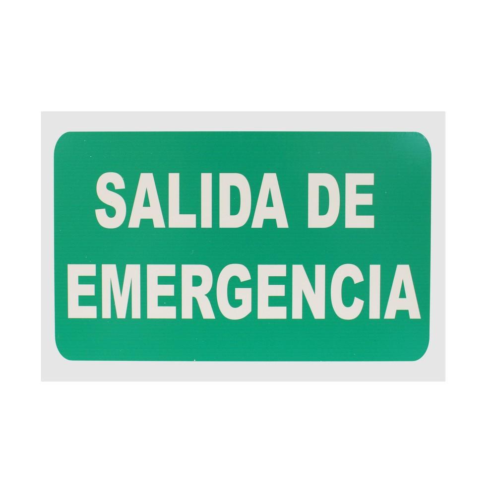 Rótulo salida de emergencia 20 x 30 cm