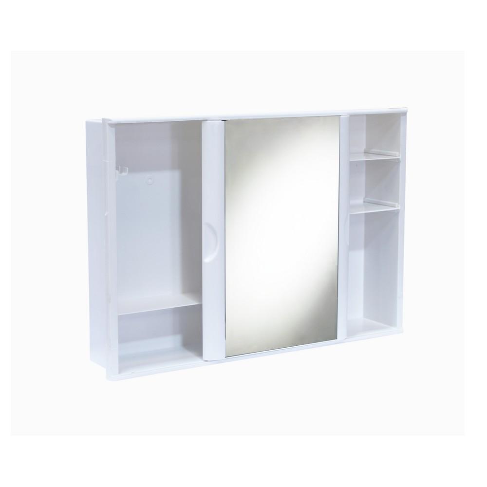 Gabinete pl stico para ba o 46x32 cent metros gabinetes de pared astra - Espejo de plastico ...