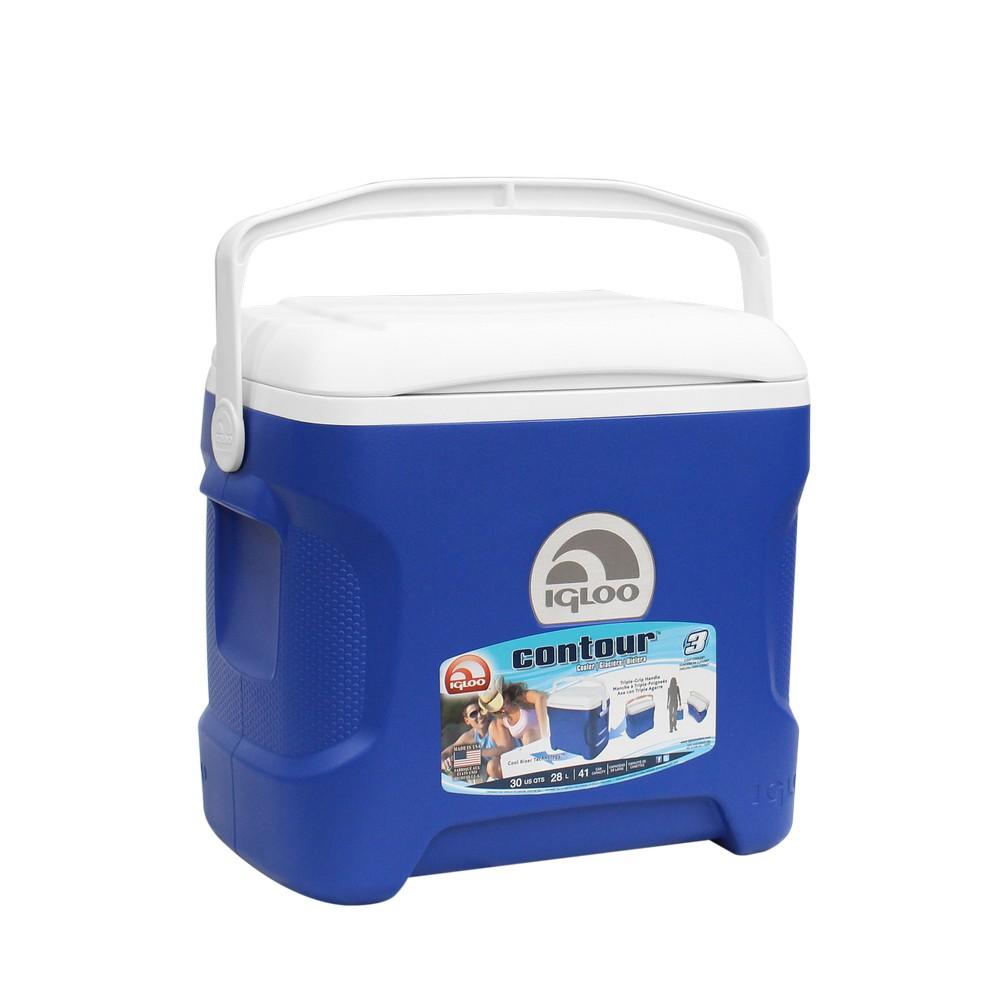 Hielera 30 qt contour azul igloo