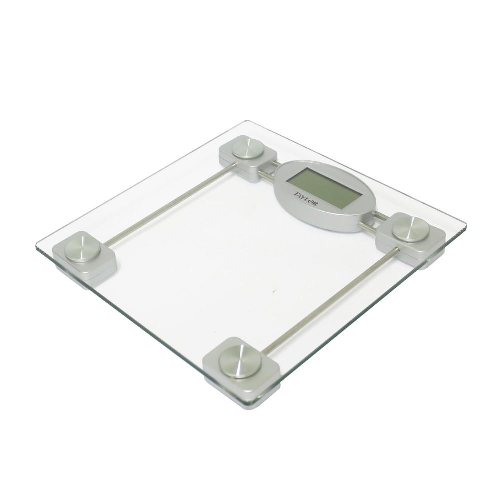 B scula para ba o digital de 400 libras de vidrio b sculas digitales taylor - Bascula de bano digital ...