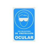ROTULO USO OBLIGATORIO DE PROTECCION OCULAR 20X30CM