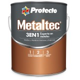 PINTURA METALTEC 3 EN 1, COLOR NEGRO.