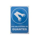 RÓTULO USO OBLIGATORIO DE GUANTES, DE 20 x 30 CENTÍMETROS.